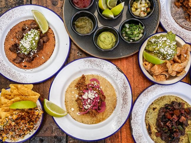 The menu selection of Mexican foods at El Gusano Taqueria. Picture: Supplied