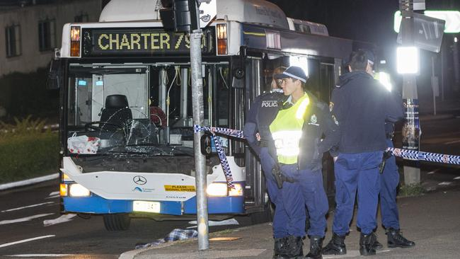 The bus struck Ms Holden as she was crossing Old South Head Road on Tuesday night. Picture: Damian Shaw.