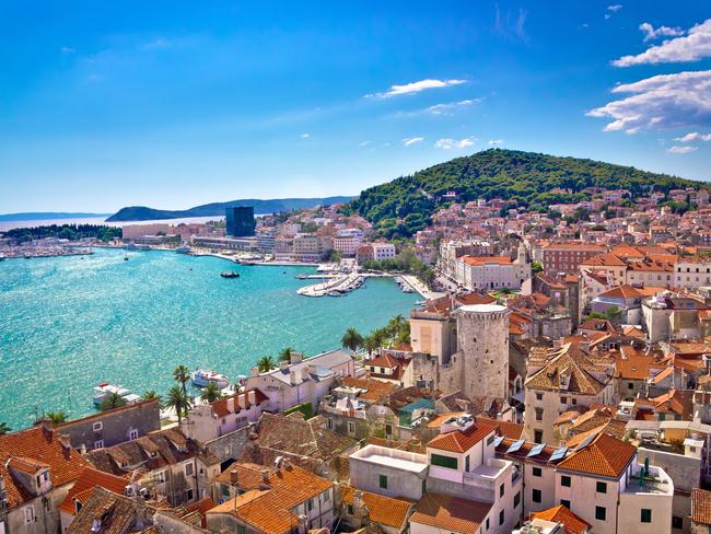 There are worse places to spend a few days: Split waterfront and Marjan hill aerial view, Dalmatia, Croatia Picture: iStock