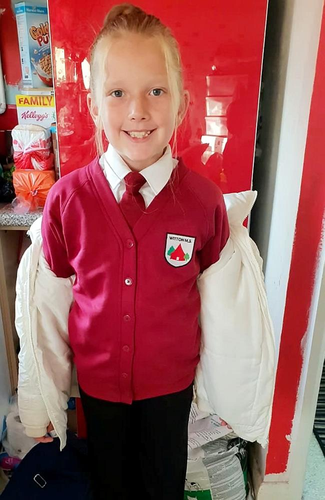 Lilly-Jo in her school uniform. Picture: SWNS
