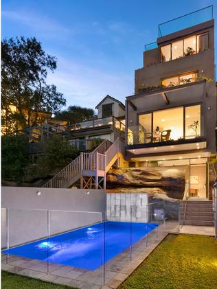 The five-storey home has a swimming pool.