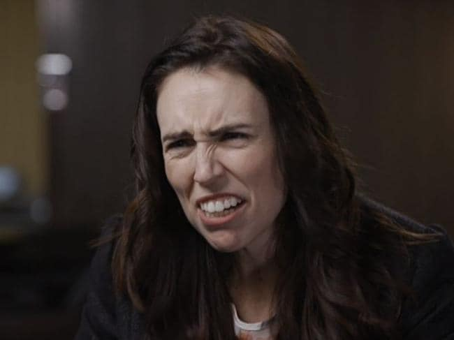 Jacinda Ardern appears to squirm under the heat on The Sunday Project. Picture: Channel 10