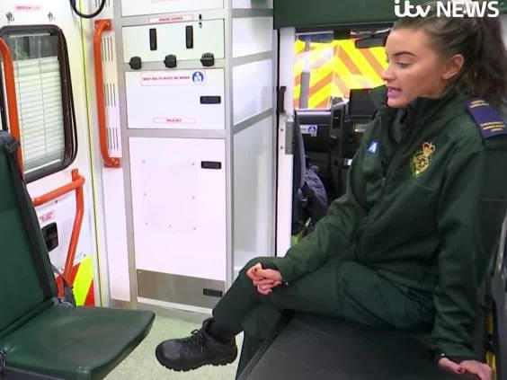 Lizzie said attacks at the weekend were 'expected' by paramedics. Picture: Supplied / ITV