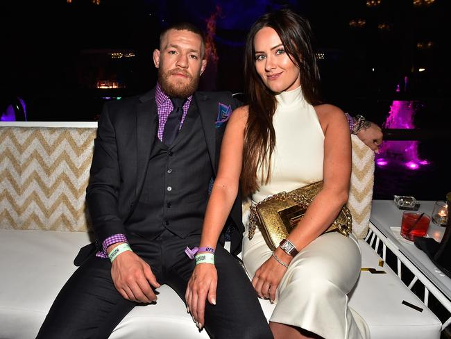 Conor McGregor and Dee Devlin. (Photo by David Becker/Getty Images for Wynn Las Vegas)