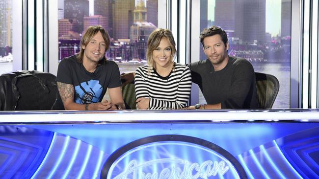 For fans only ... American Idol (Keith Urban, Jennifer Lopez and Harry Connick Jr) has been relegated to Eleven.