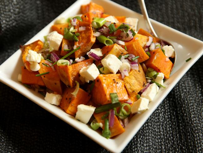 Your carb-filled lunch can be delicious and help you lose weight if you choose sweet potato. Picture: Andy Rogers
