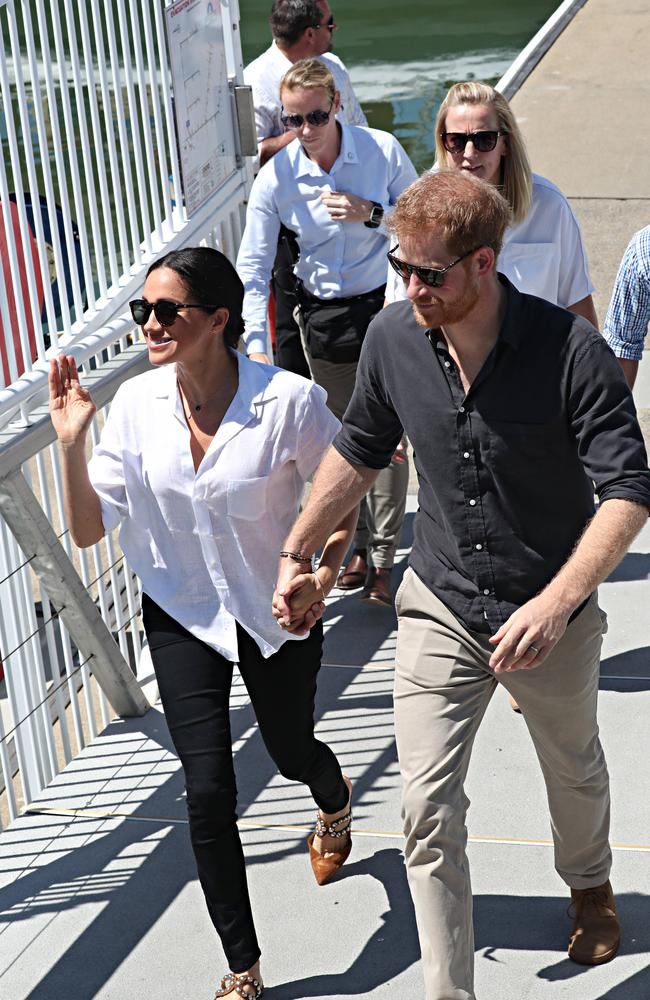 Pregnant Meghan has cut back on some of her official duties. Picture: Annette Dew