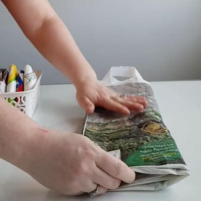 You'll need to flatten it first and fold it into three. Picture: Instagram/Mrs D Cleaning