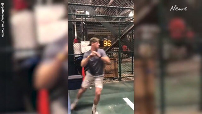 Oakland A's sign fan who went viral with pitching challenge
