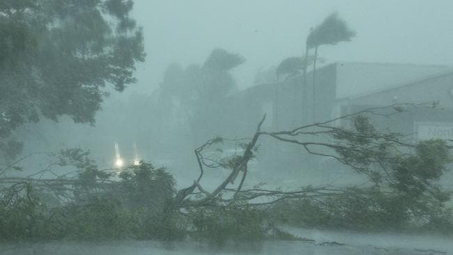 Winds from Cyclone Marcus brought down trees and damaged homes in Darwin. Picture: AAP
