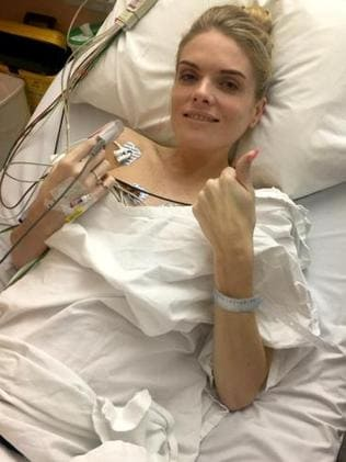 Erin Molan in a Sydney Hospital after a fall. Source: News Corp Australia