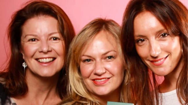 Bec (left) with the other Jonny co-founders Samantha Eades and Bec Villanti. IMage: Supplied.