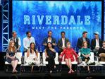 "The cast of ""Riverdale"" speak onstage at the CW Network portion of the Summer 2018 TCA Press Tour in 2018. Picture: Frederick M. Brown/Getty Images"