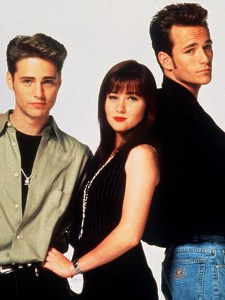 Jason Priestley, Shannen Doherty and Luke Perry in their 90210 days.