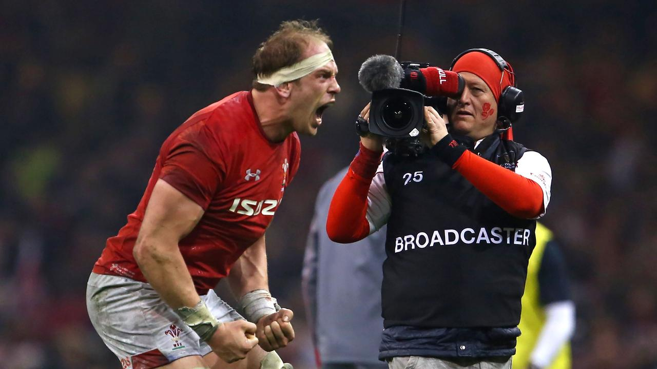 Wales' captain Alun Wyn Jones following their Six Nations win over England last month.