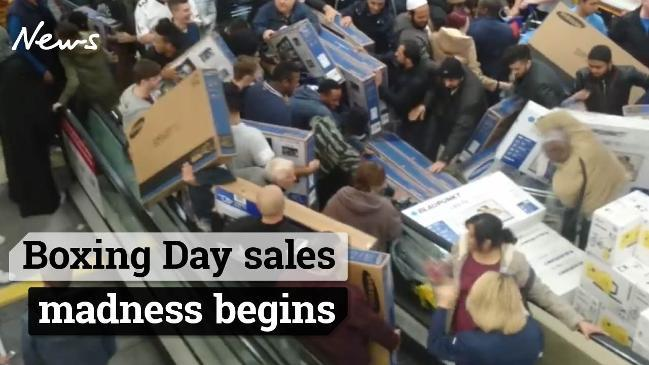 Boxing Day sales madness begins