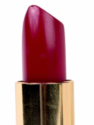 A tiny bit of the lipstick's tip broke off.