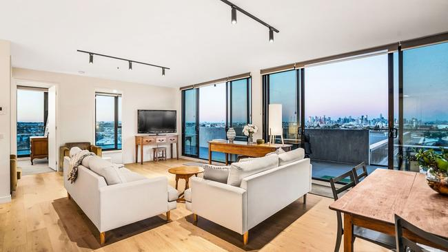 Inside the Yarraville penthouse.