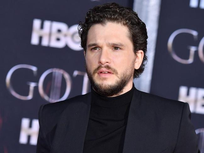 Kit Harington appeared at the show's premiere, with beard, in New York last week. Picture: AFP