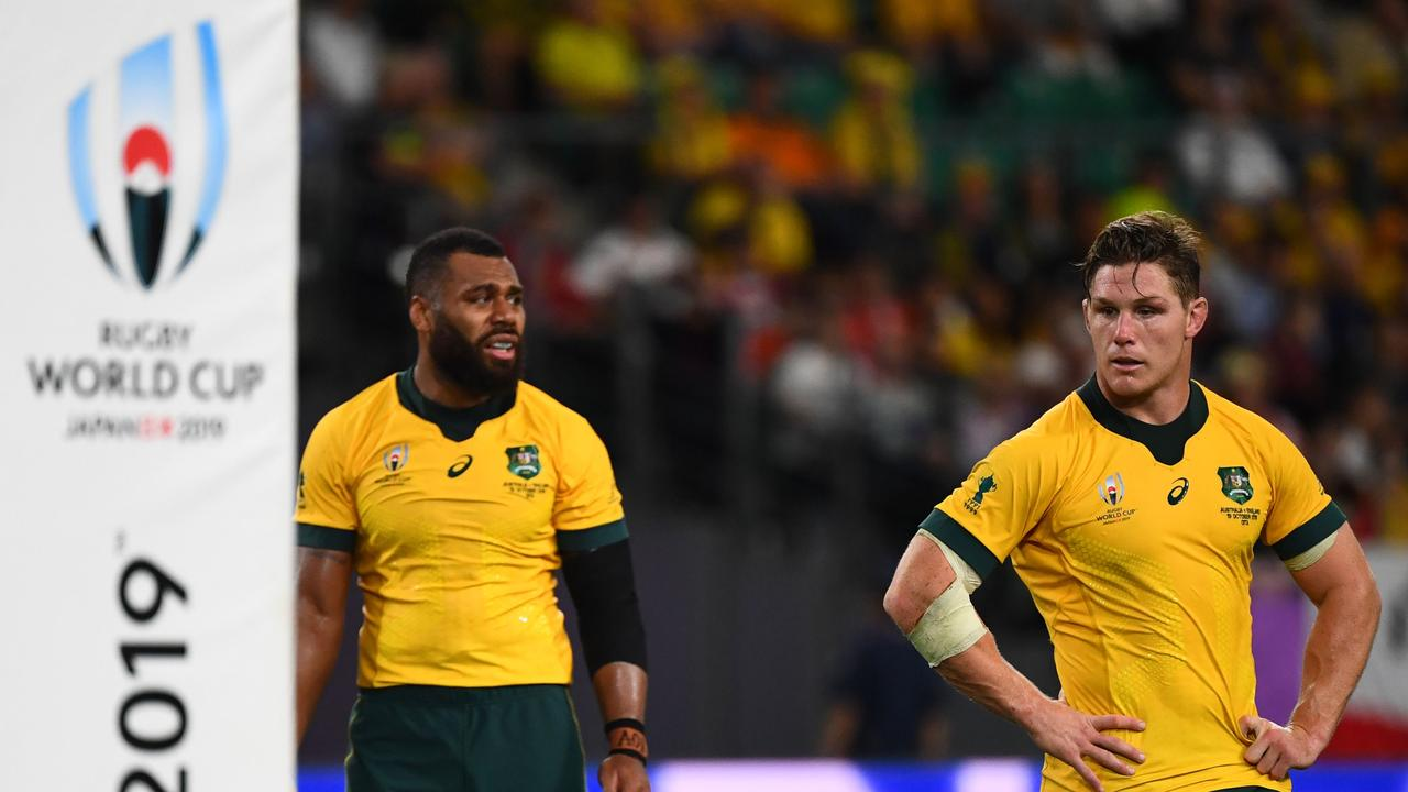 Centre Samu Kerevi (L) and flanker Michael Hooper were the Wallabies' leaders at the World Cup.