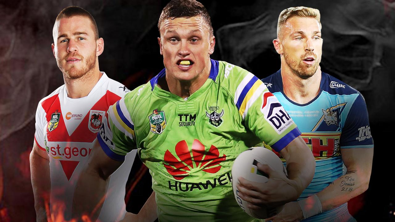 Euan Aitken, Jack Wighton and Bryce Cartwright will be feeling the heat this weekend.