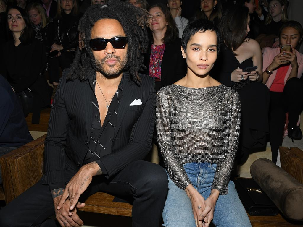 A father/daughter front row at Paris Fashion Week. Picture: Getty Images