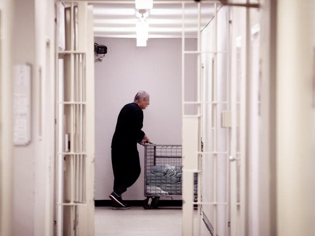 A Goulburn inmate in the MPU wing of the correctional centre where maximum security inmates are held. Picture: Sam Ruttyn.
