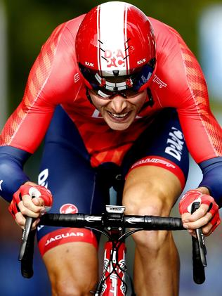Drapac's Will Clarke pushing himself. Picture: Michael Klein.