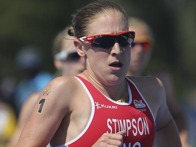 Jodie Stimpson won the women's triathlon.