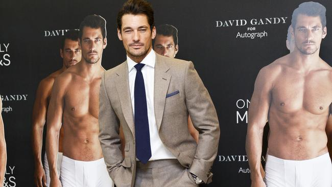 David Gandy attends a photo call to launch his collection for Marks and Spencer Autograph at M&S in London. Picture: Tristan Fewings / Getty Images