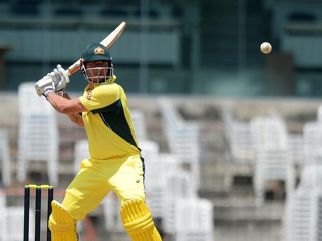 Marcus Stoinis unleashed some big hitting against India's Board President XI.