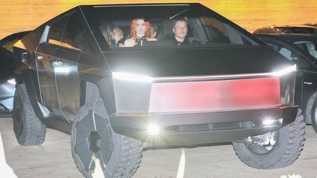 Elon Musk gives the public a taste of his new Tesla Cybertruck after enjoying dinner at Nobu in Malbu.