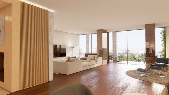 Hardwood finishes throughout the apartment. Picture Golders / Vanguard properties
