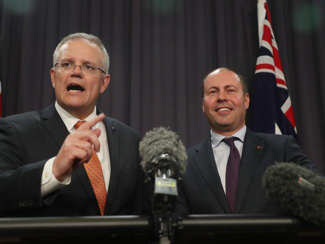 The Morrison government is offering more tax relief more quickly in the hope of giving itself more of a chance at next month's polls. Picture: Gary Ramage