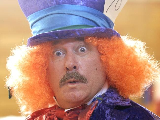 Jeremy Kewley as the Mad Hatter in Alice in Wonderland.