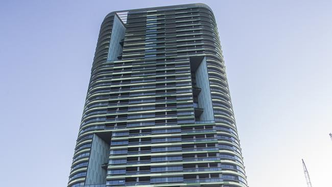 The Opal Tower in Sydney Olympic Park has hundreds of empty apartments. Picture: Dylan Robinson