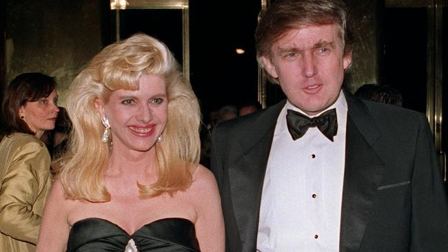 Donald and Ivana Trump — pictured in 1989 — went through a messy, expensive public divorce. Picture: Swerzey/AFP Photo