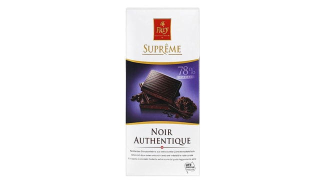 Frey Supreme Extra Dark 85 per cent, $2.50, at Woolworths, Image: Supplied