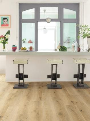 Vinyl is now sold in planks. Titan vinyl floor by Premium Floors. Picture: Premium Floors