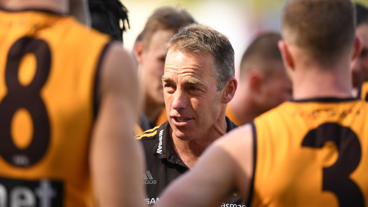 Hawthorn is currently in the bottom four. Photo: Matt Roberts/AFL Photos/via Getty Images.