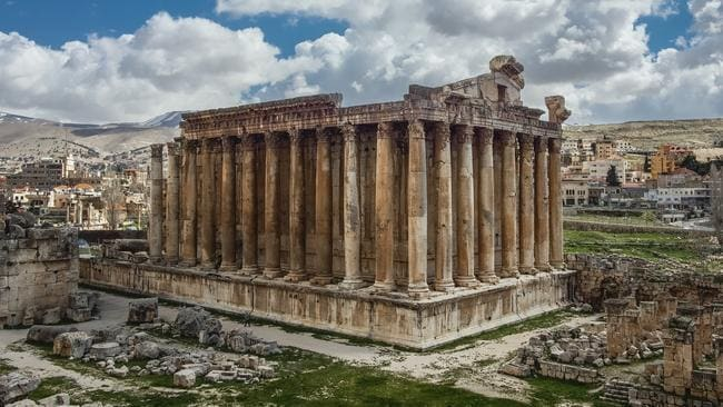 Temple of Jupiter on the famous Baalbek archaeological site located in east Lebanon's Beqaa Valley. Picture: Alex Kuehni