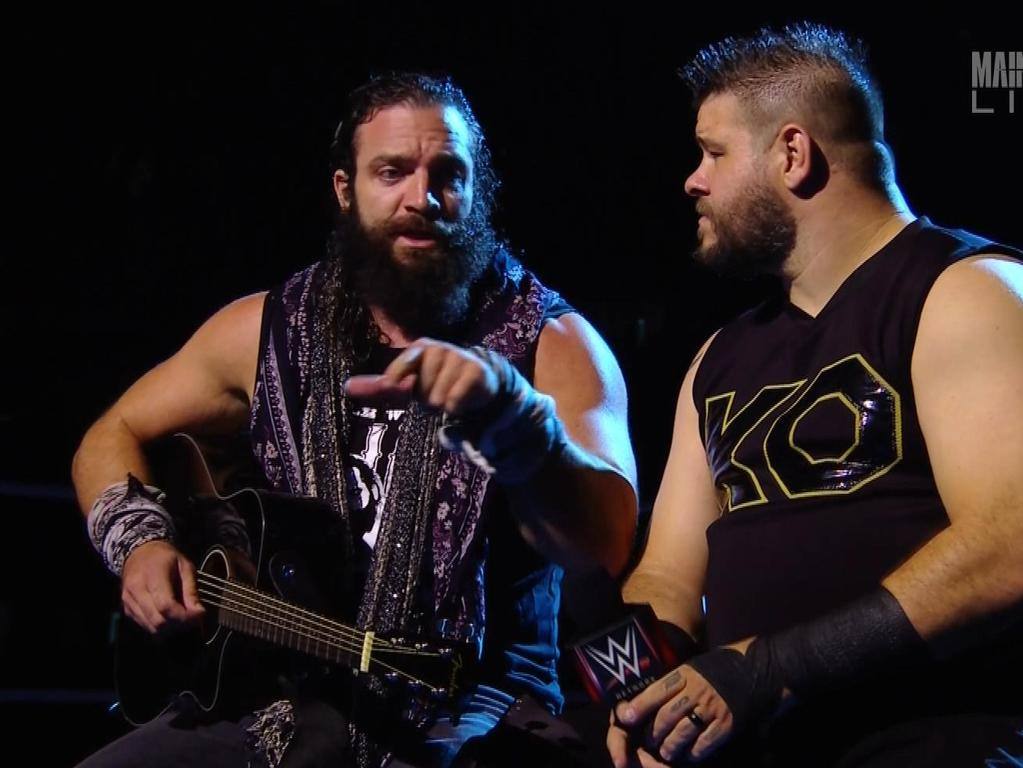 Kevin Owens and Elias at WWE Super Show-Down.
