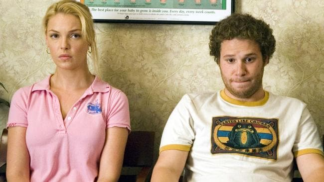 Katherine Heigl won't be watching a re-run of Knocked Up anytime soon.