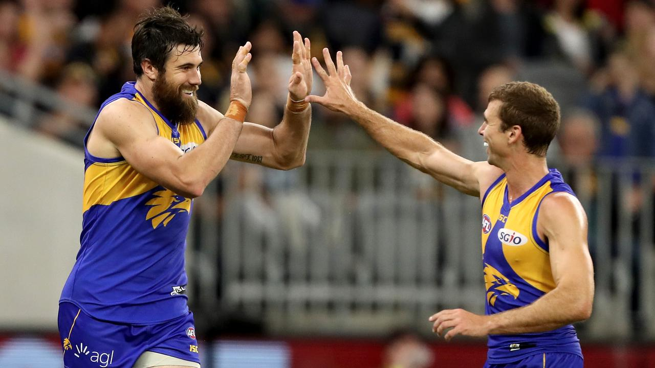 Josh Kennedy and Shannon Hurn of the Eagles were crucial to West Coast's premiership run last year.