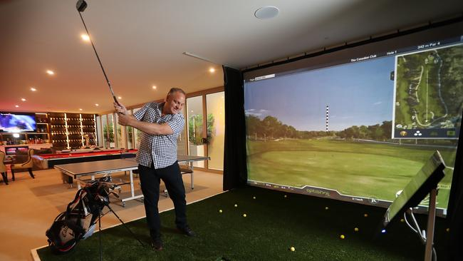 A golf simulator is also part of the brilliant package .... Picture: Alex Coppel