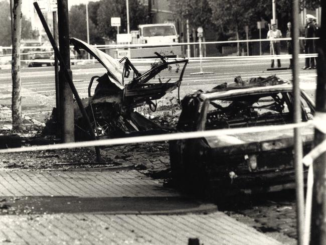 March 1986. Aftermath of the Russell St bombing. Picture: Supplied