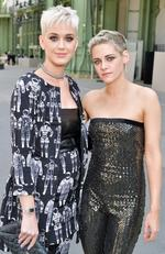 Katy Perry and Kristen Stewart attend the Chanel Haute Couture Fall/Winter 2017-2018 show as part of Haute Couture Paris Fashion Week on July 4, 2017 in Paris, France. Picture: Splash