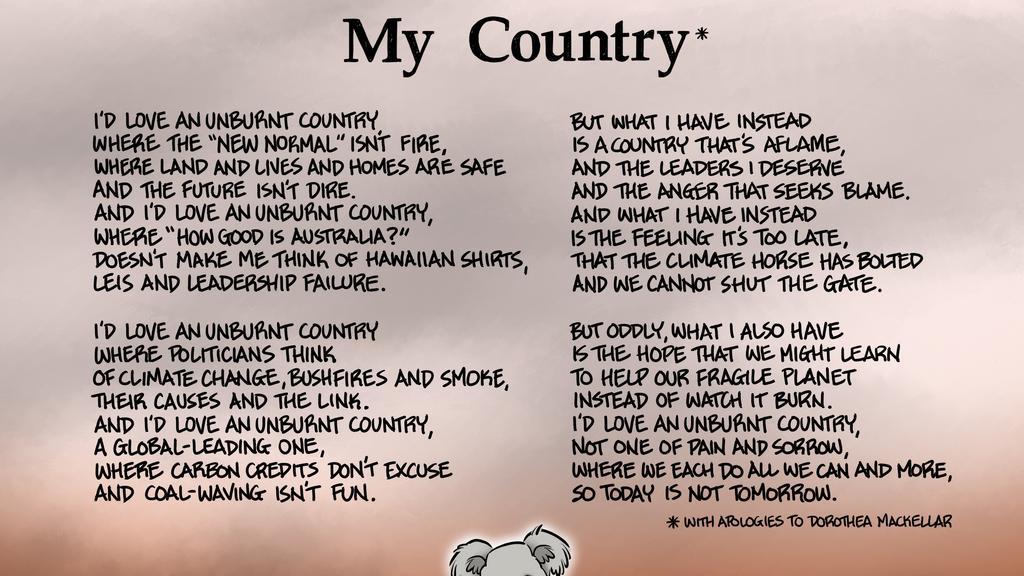 Essay on my country by dorothea mackellar