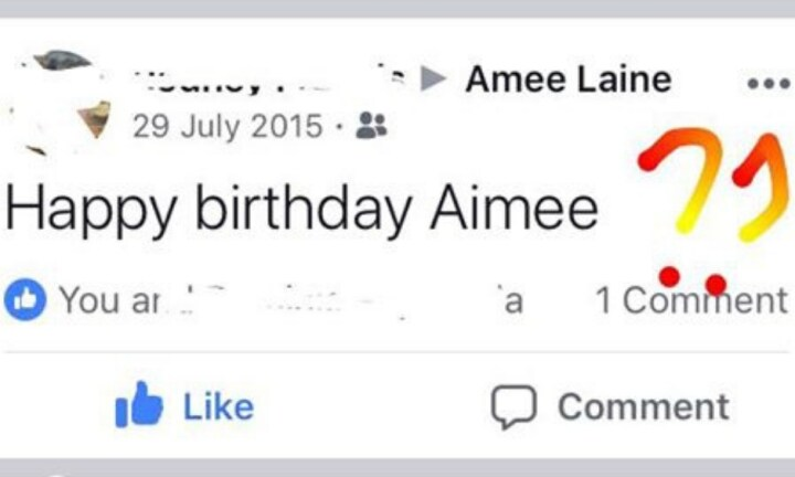 Friends and family always blunder Amee's name. Image: Supplied.