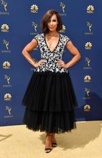 Amanda Brugel attends the 70th Emmy Awards at Microsoft Theater on September 17, 2018 in Los Angeles, California. Frazer Harrison/Getty Images/AFP